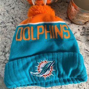 🦋 Miami Dolphins Hat w/ Swarovski Crystals